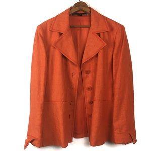 🌿Ellen Tracy Linda Allard 100% Linen Jacket